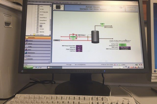 an energy control sytem running on a pc